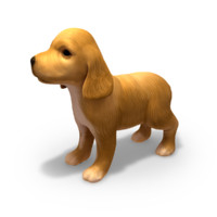 3d puppy rigged model