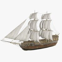 3d traveler ship boats model