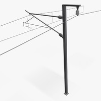 3d model electric pole railway
