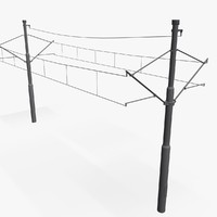 3d model of tramway power pole