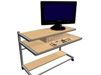 mobile computer workstation 3d model