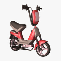 3d cartoon scooter motorcycle