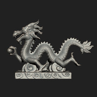 asian chinese dragon zbrush 3d 3ds