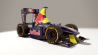 cartoon formula 1 - 3d model