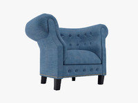 monica pedersen cevon arm chair 3d obj