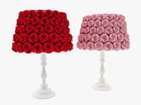 Rose covered lamp