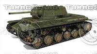 3d heavy soviet tank model