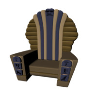 egyptian throne 3d ma