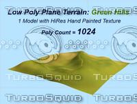3d terrain green hills model