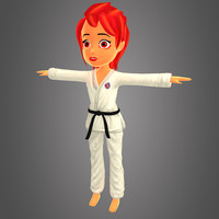 3d karate kid girl model