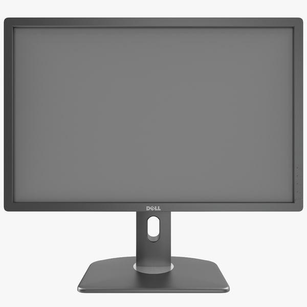 LED LCD Monitor Dell UltraSharp U2412M 24 HDTV HD plasma computer desktop cpu display widescreen video modern home interior vray decor decorative