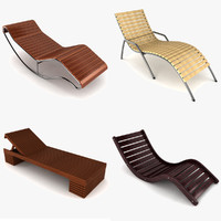 3d sun lounger model