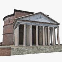 3d model pantheon