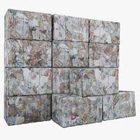 c4d paper waste set