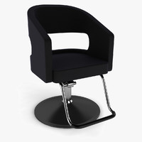 3d model barber chair hair