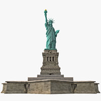 Statue of Liberty Low-Poly