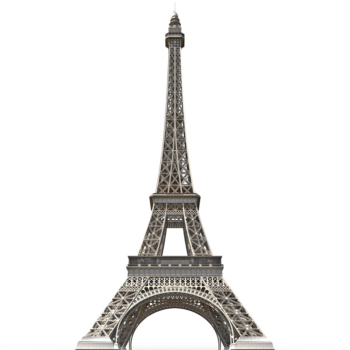 Eiffel Tower Low Poly 3d C4d