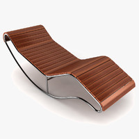 3d model of lounger lounge sun