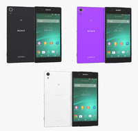 sony xperia z2 colors 3d model
