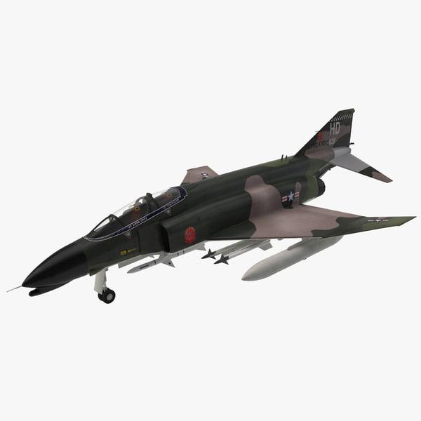 McDonnell Douglas F4 Phantom II supersonic interceptor bomber US navy united states marine corps airforce air force war battle plane airplane vray
