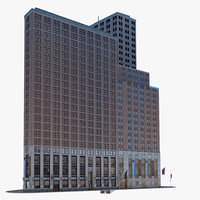 wall street building 3d 3ds