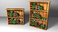 bookcase architectural scene obj