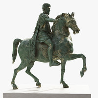 3d model marcus aurelius equestrian statue