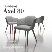 3d model of axel chair