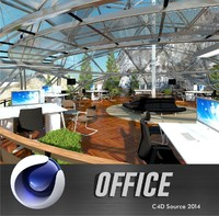 c4d office interior