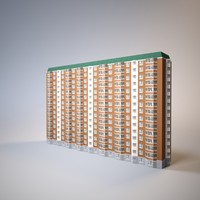 3d model apartment house series p44t