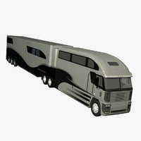 3d model of truck trailer freightliner argosy