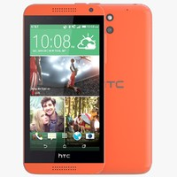 3d model of htc desire 610 red