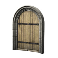 arched double door 3d obj