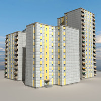 3d 3ds city block building 02