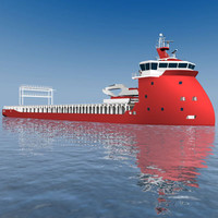 3d vessel sea model