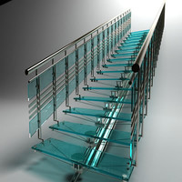 3d model stair staircase steps