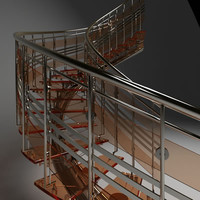 3d model of spiral stair