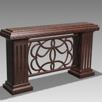 antique bar desk 3d max