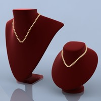 necklace mannequin stand 3d 3ds