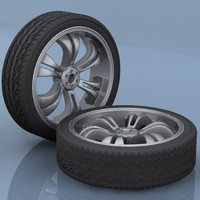3d automobile tires model