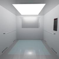 elevator 3d model