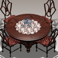 3d antique table model