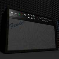3ds max fender amplifier
