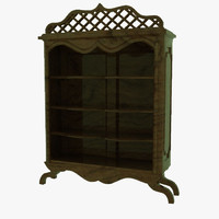 3d model antique shelves