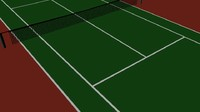 3d model tennis hard court
