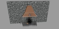 3d 3ds realistic place fireplace smoke