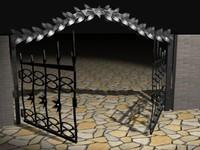 3d model of iron gate