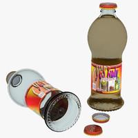 glass bottles 3d max