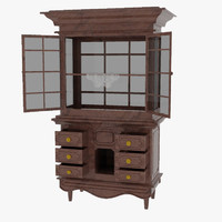 antique wardrobe 3d max