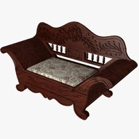 3d antique bench